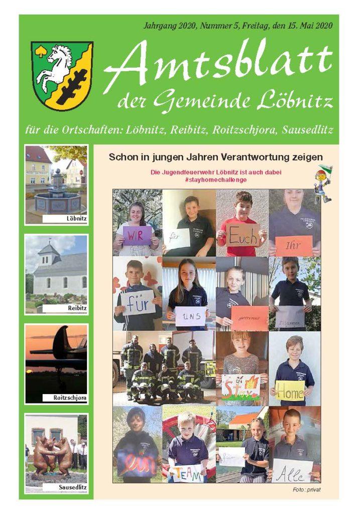 2020 05 15 Amtsblatt Nr.5 Titelblatt