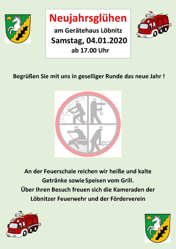 Ffw Löbnitz Neujahrsglühen Am 04.01.2020