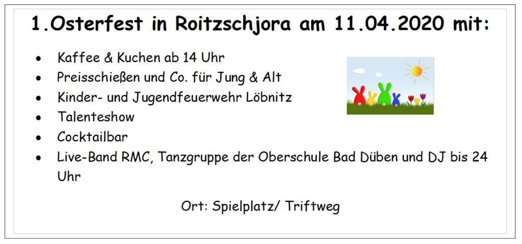 Osterfest Roitzschjora 11.04.2020