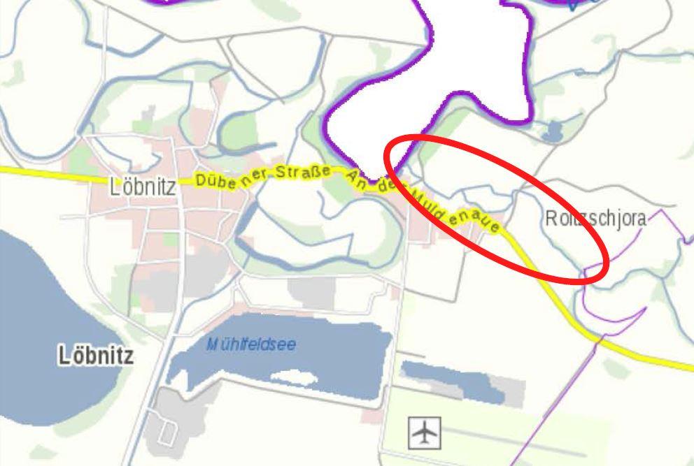 Artikel Gewässerunterhaltung Karte Maßnahmenbereich Klein