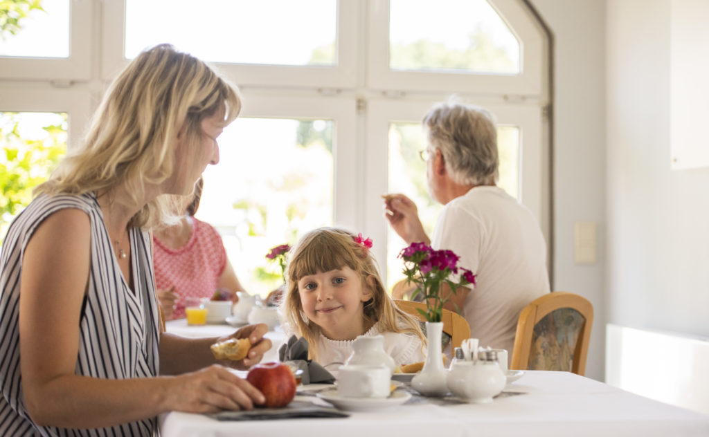 Hotel Pension Frühstücksraum