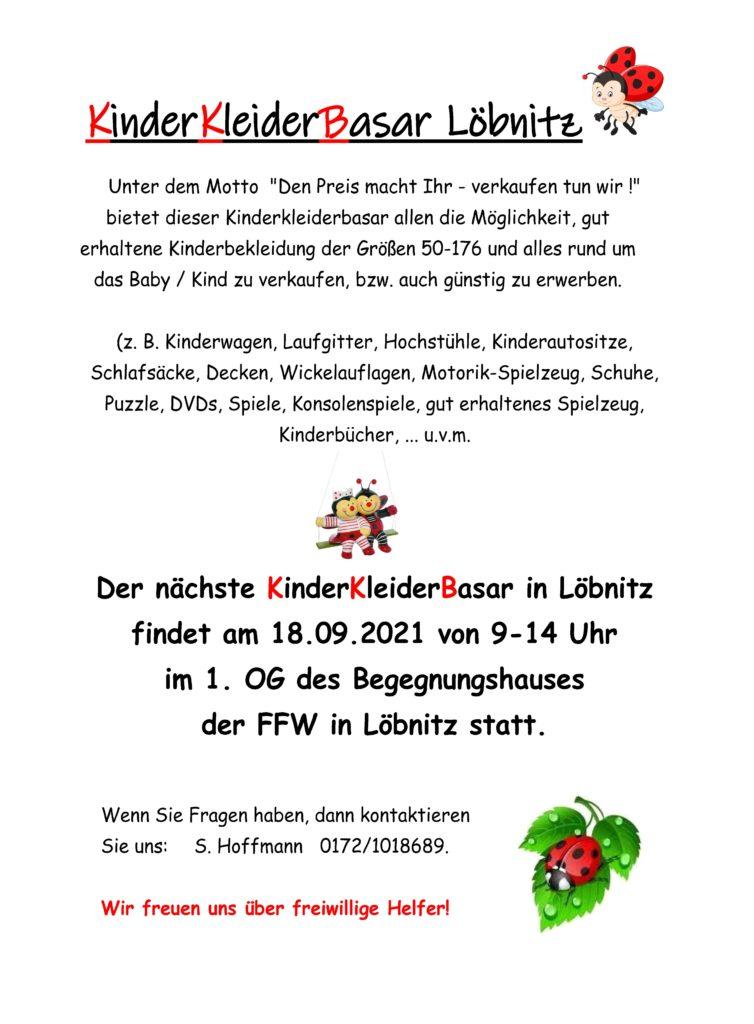 Hoffmann S Kinderkleiderbasar 18 09 2021