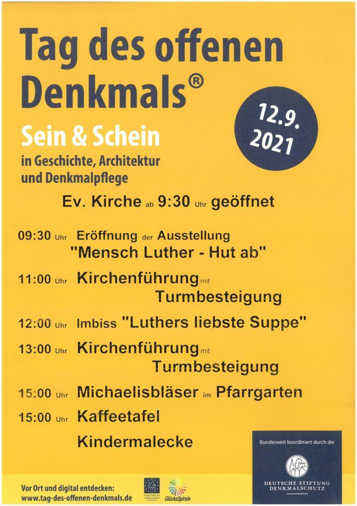 2021 09 12 Tag D Offenen Denkmals Ev Kirche