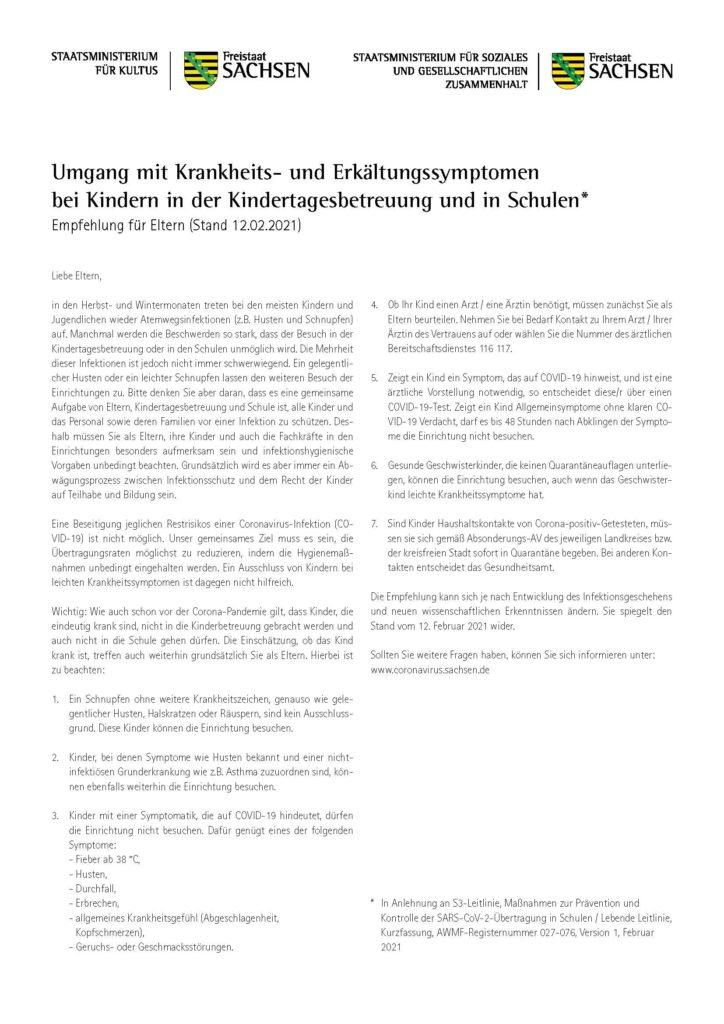 2021 02 12 Kultus Empfehlung Krankheitsanzeichen Seite 2