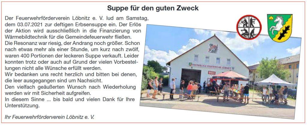 2021 07 03 Ffw Loe Suppe Fuer Einen Guten Zweck Amtsblatt 7 2021