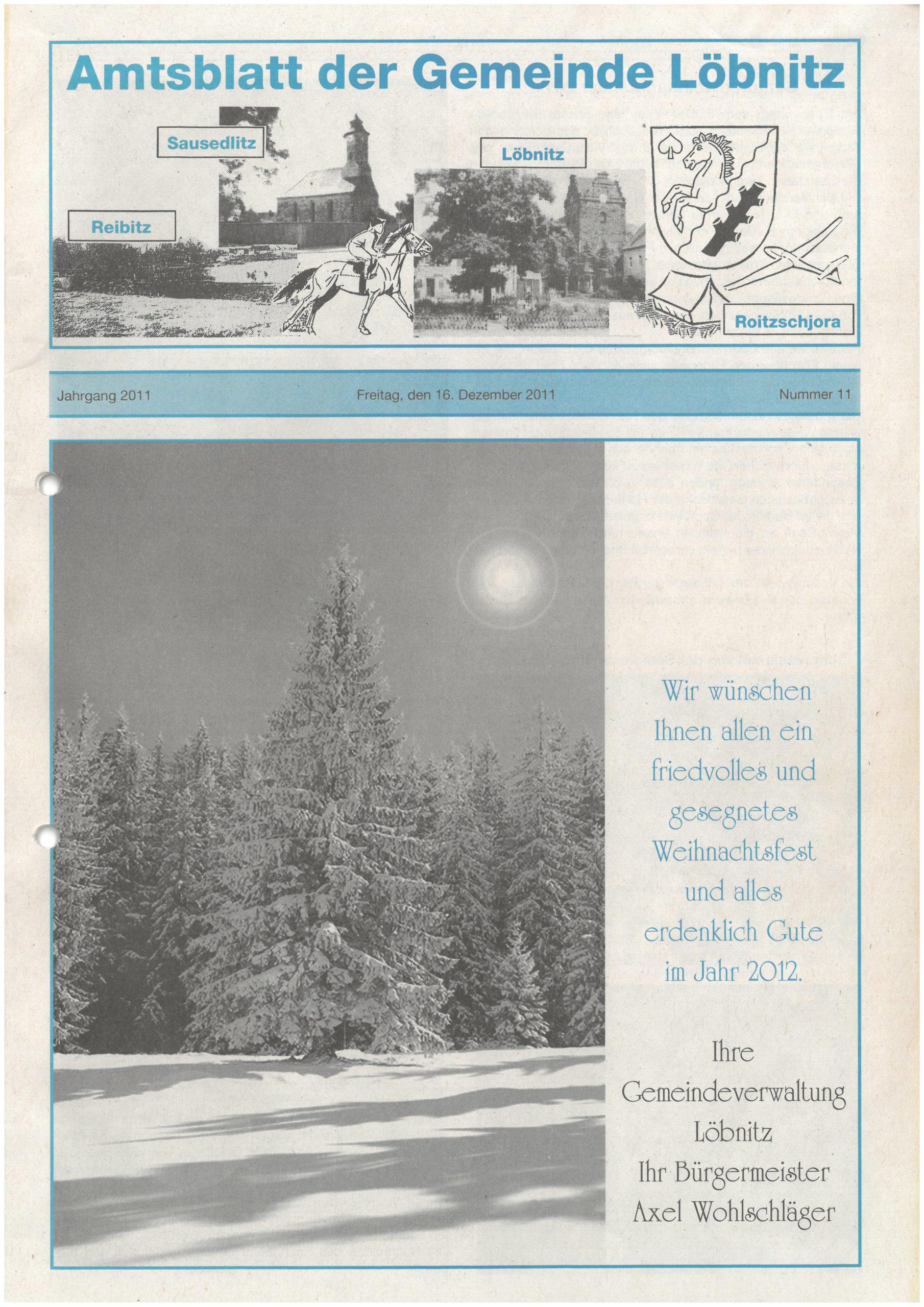 2020 11 20 Loebnitz Ausgabe 11 Titelbild